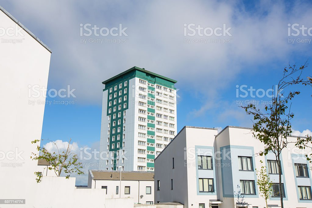 Plymouth Residential Buildings stock photo