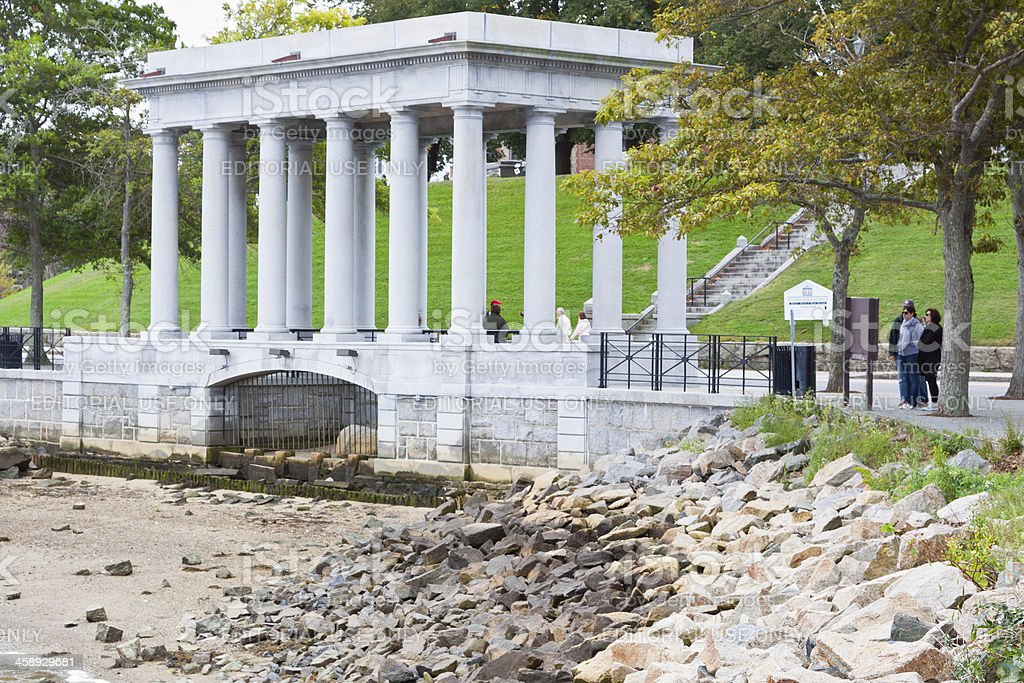 Plymouth Rock - Landing Place of Pilgrims royalty-free stock photo