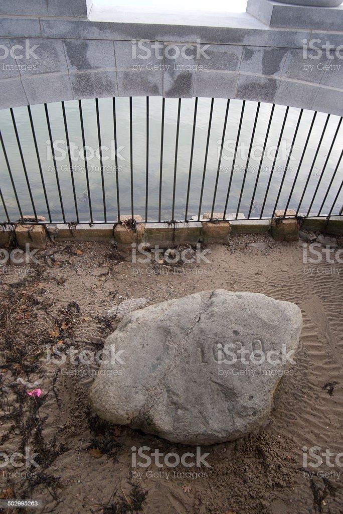 Plymouth Rock stock photo