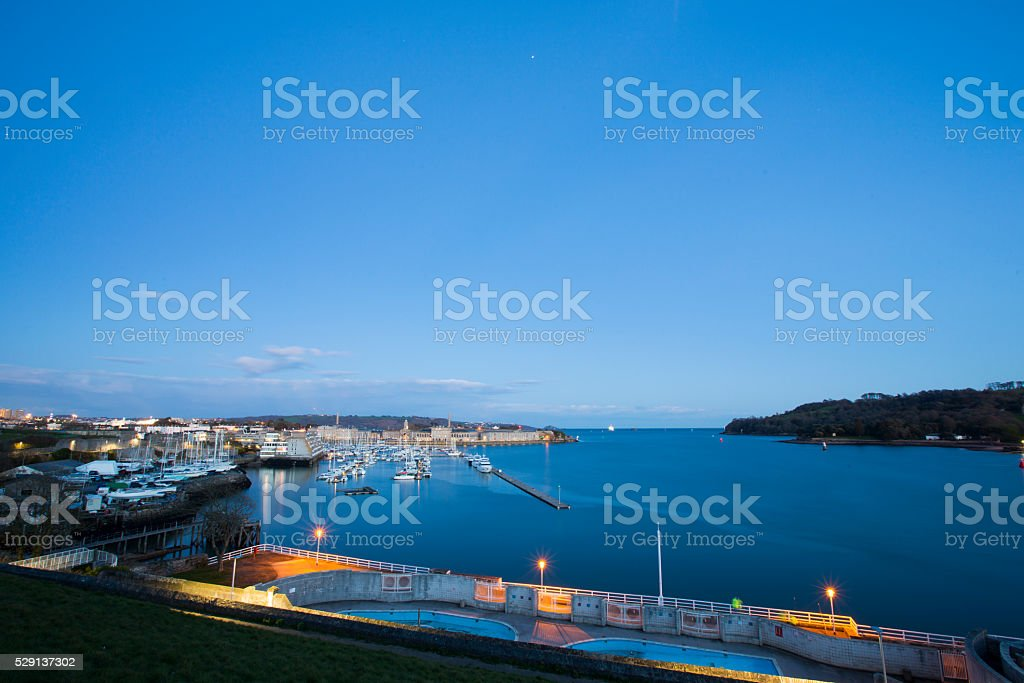 Plymouth seafront - Mount Wise stock photo