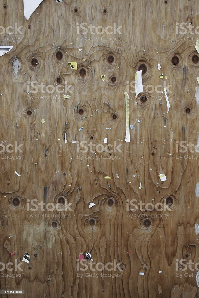 Plywood Flyer Wall - Vertical stock photo