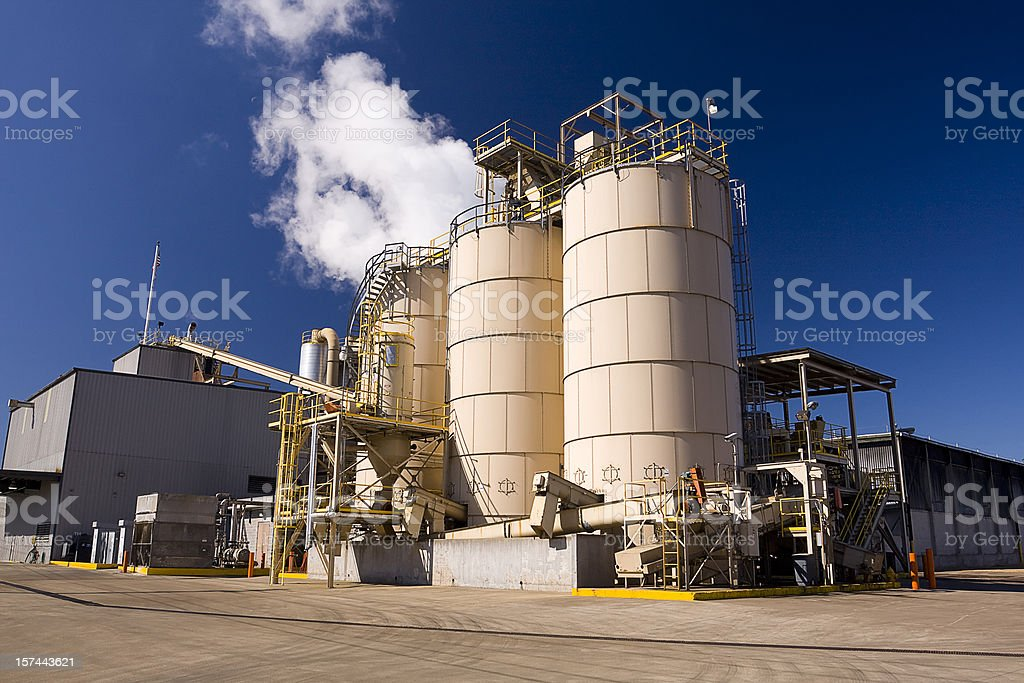 Plywood Manufacturing Plant royalty-free stock photo