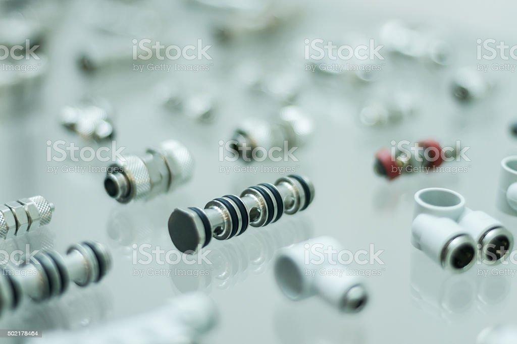 Pneumatic adapters stock photo