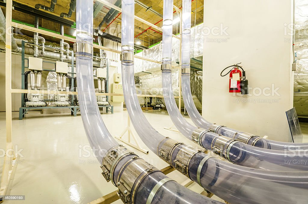 Pneumatic Tube Transporter stock photo