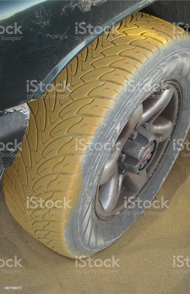 Pneumatic whit sand and yellow sand royalty-free stock photo