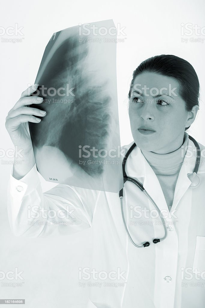 Pneumonia diagnosis royalty-free stock photo