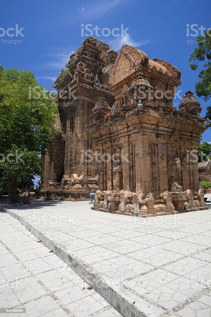 Po Nagar Cham Temple tower in Nha Trang, Vietnam stock photo