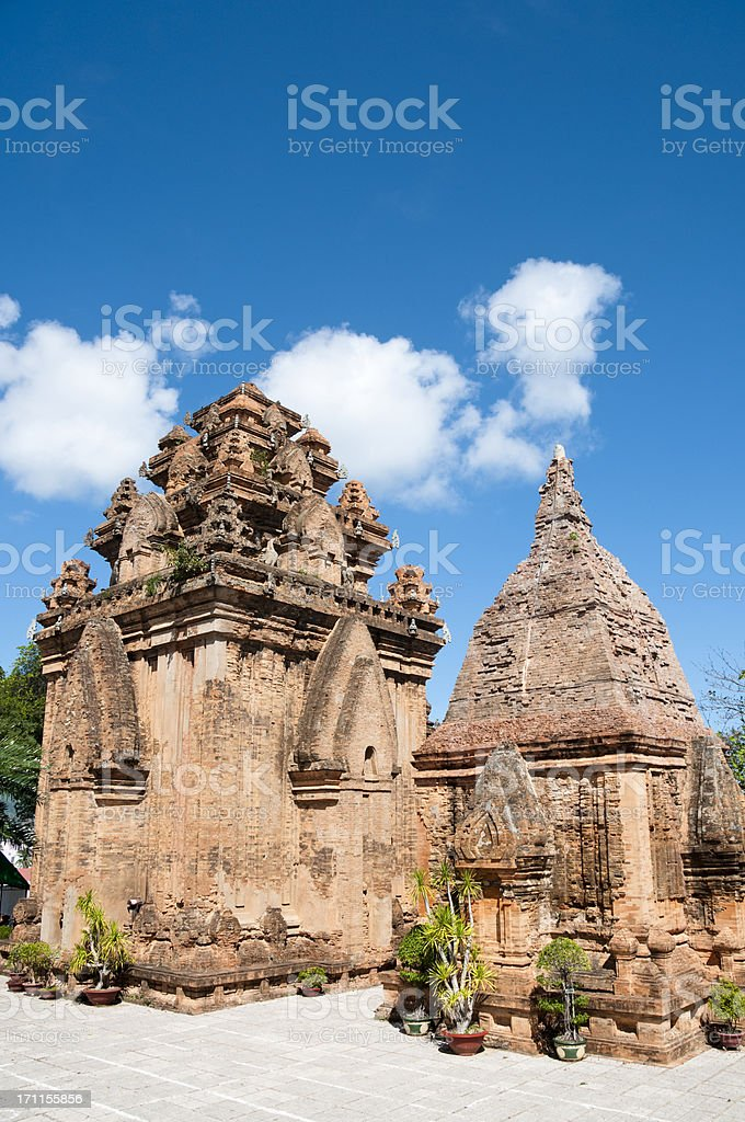 Po Nagar Cham Towers In Nha Trang, Vietnam stock photo
