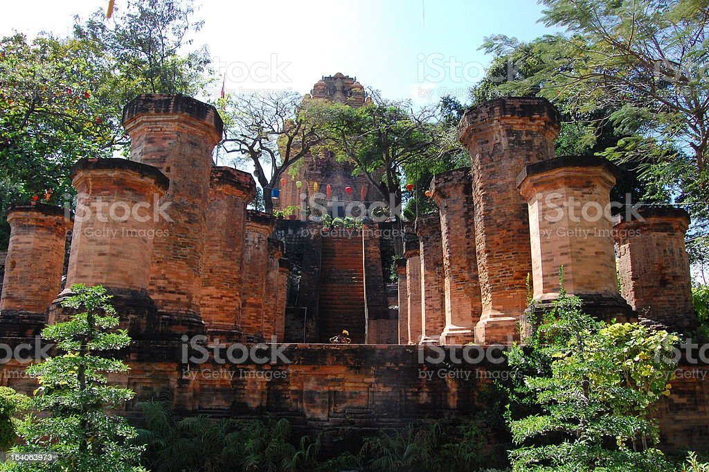 Po Nagar Cham towers, Nha Trang, Vietnam stock photo