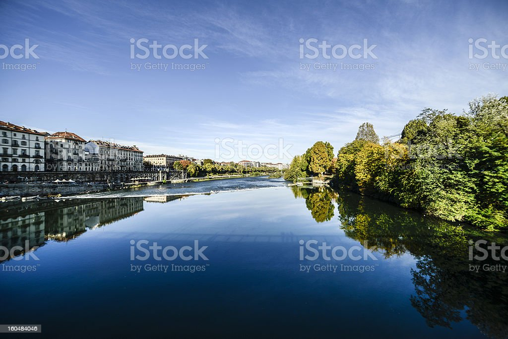 Po river in Turin royalty-free stock photo