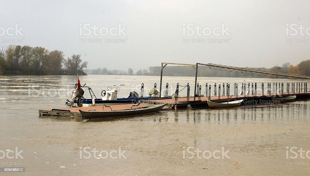 Po river near Cremona stock photo