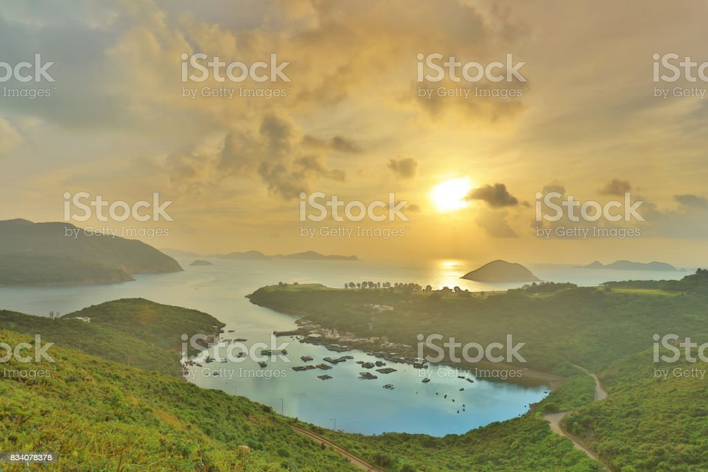 Po Toi O from higher perspective, Sai Kung stock photo