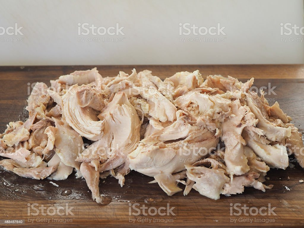 Poached Chicken Meat stock photo