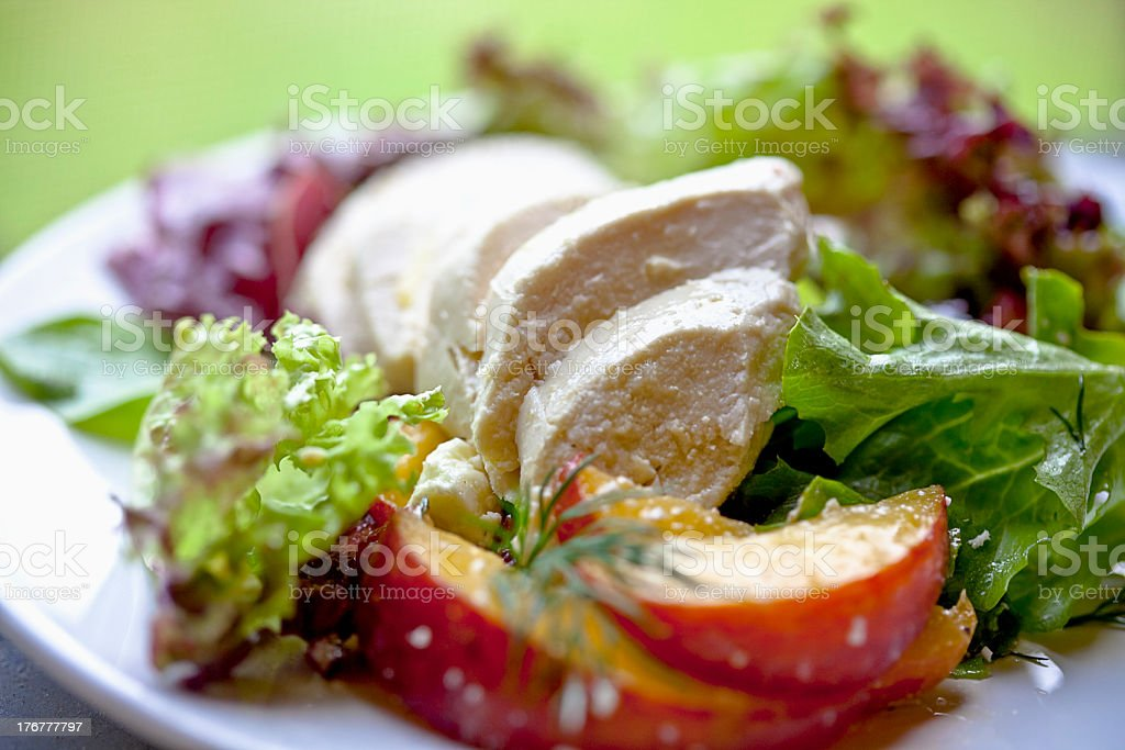 Poached Chicken Salad royalty-free stock photo