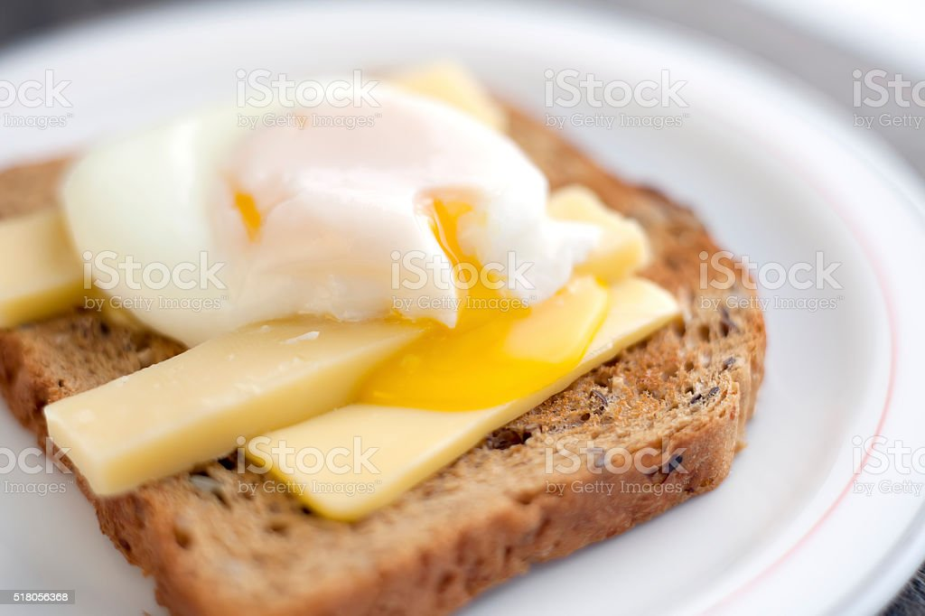 Poached egg on toast royalty-free stock photo