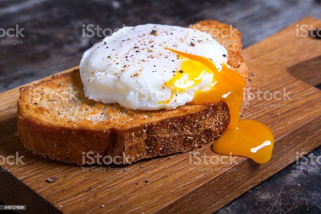 Escalfado huevo  foto de stock libre de derechos