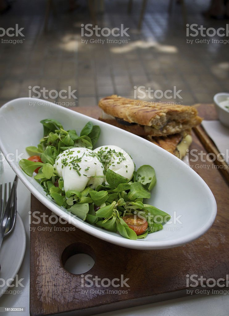 poached egg salad royalty-free stock photo