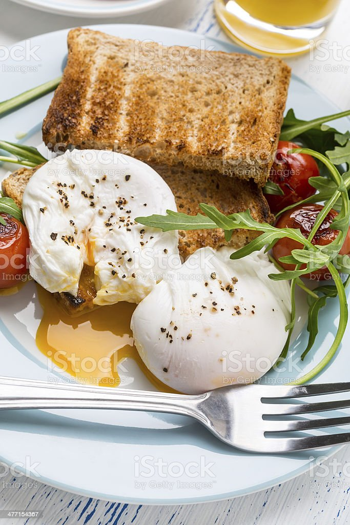 Poached Eggs royalty-free stock photo