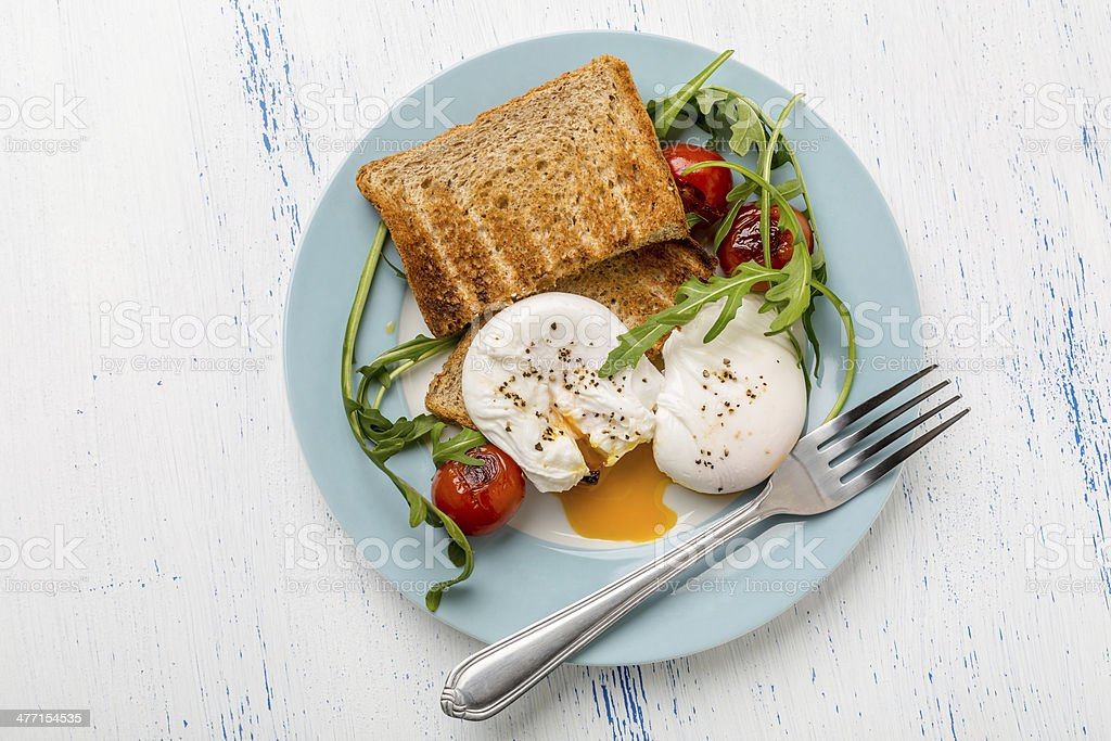 Poached Eggs stock photo