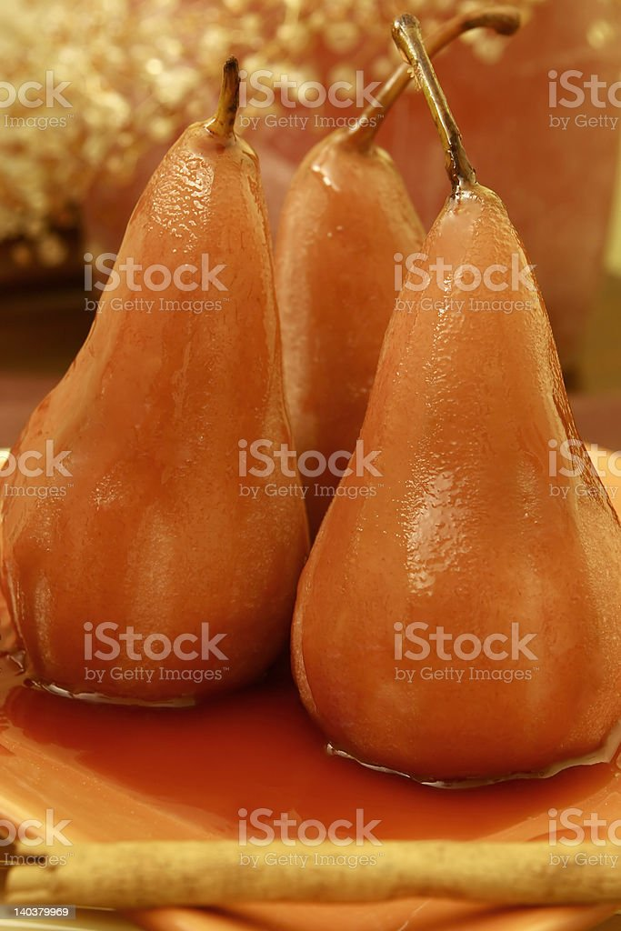 poached pears royalty-free stock photo