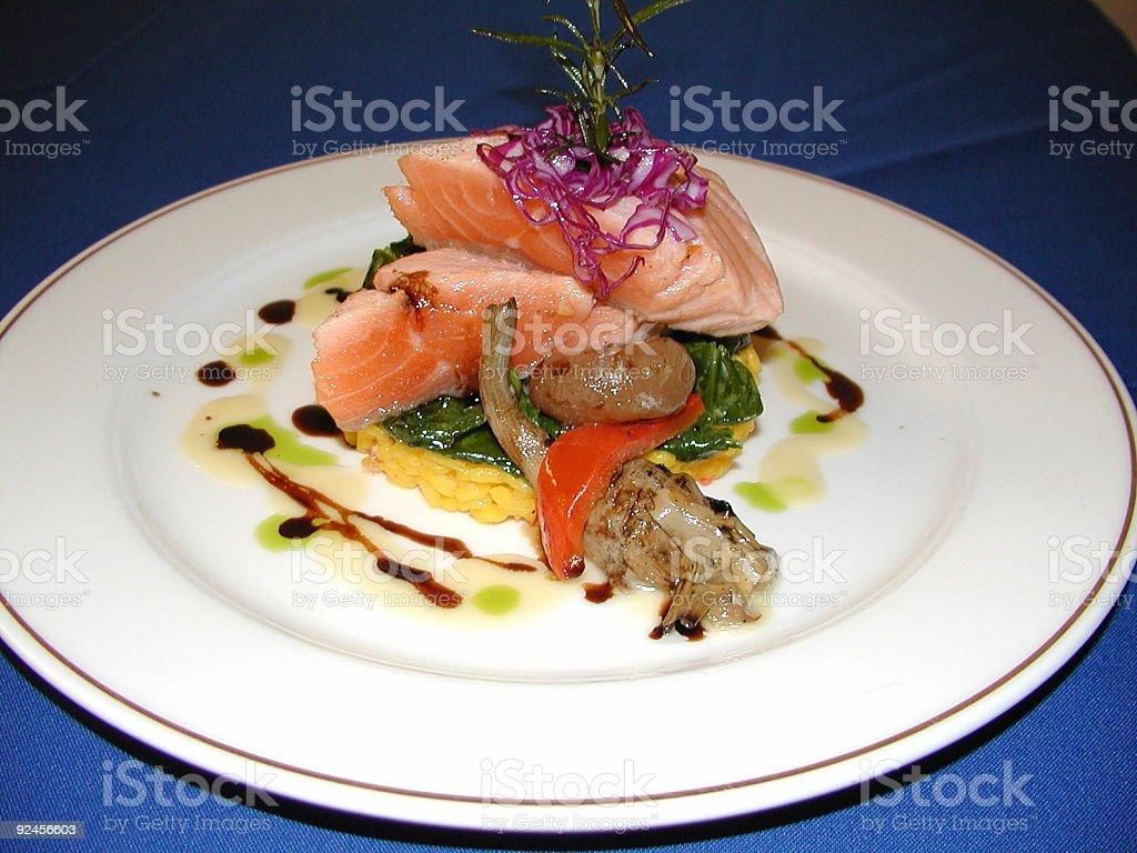 Poached Salmon royalty-free stock photo
