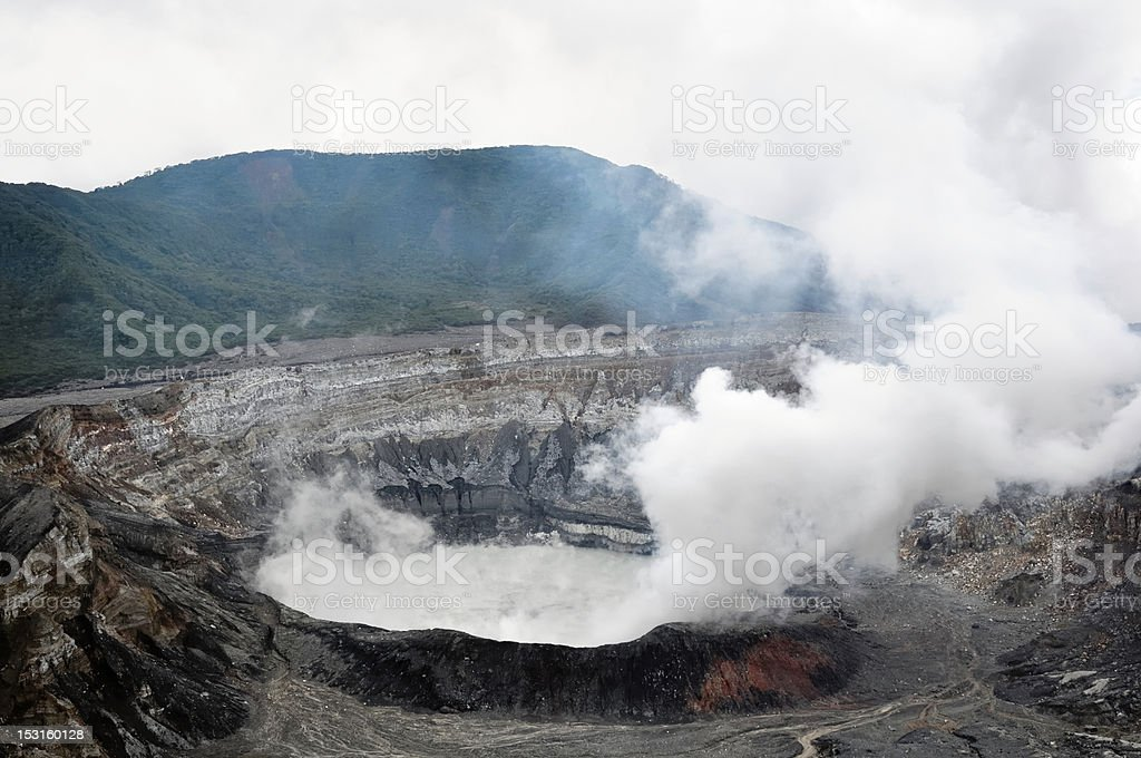 Poas Volcano Crater royalty-free stock photo