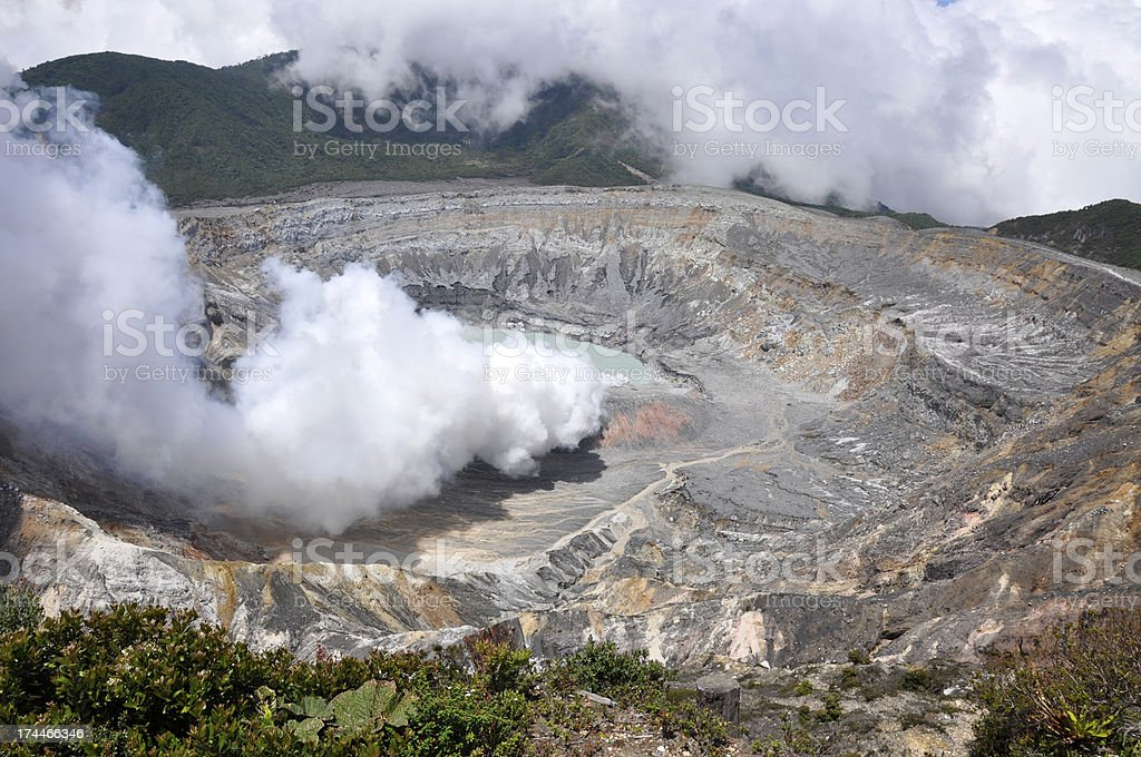 Poas volcano royalty-free stock photo