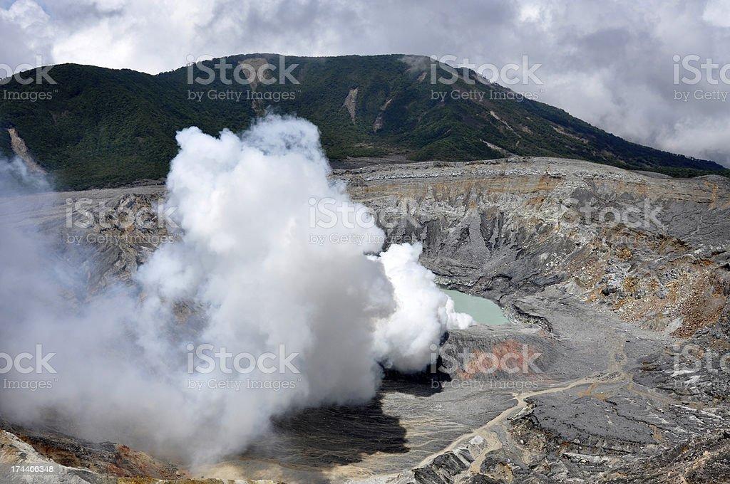 Poas volcano royalty-free stock photo