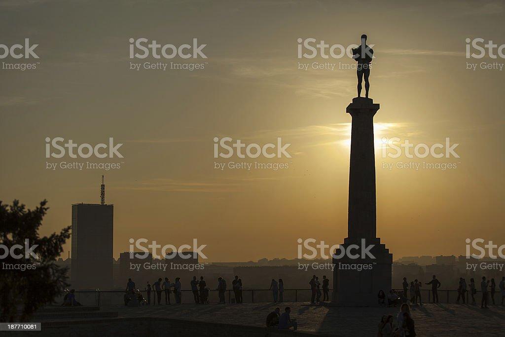 Pobednik Belgrade Fortress stock photo