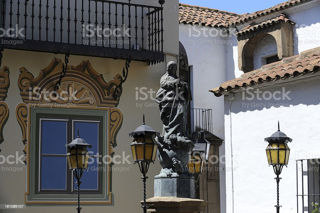 Poble Espanyol, Spanish village in Barcelona, Spain royalty-free stock photo