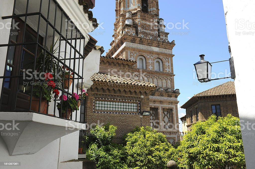 Poble Espanyol, Spanish village in Barcelona, Spain royalty-free stock photo