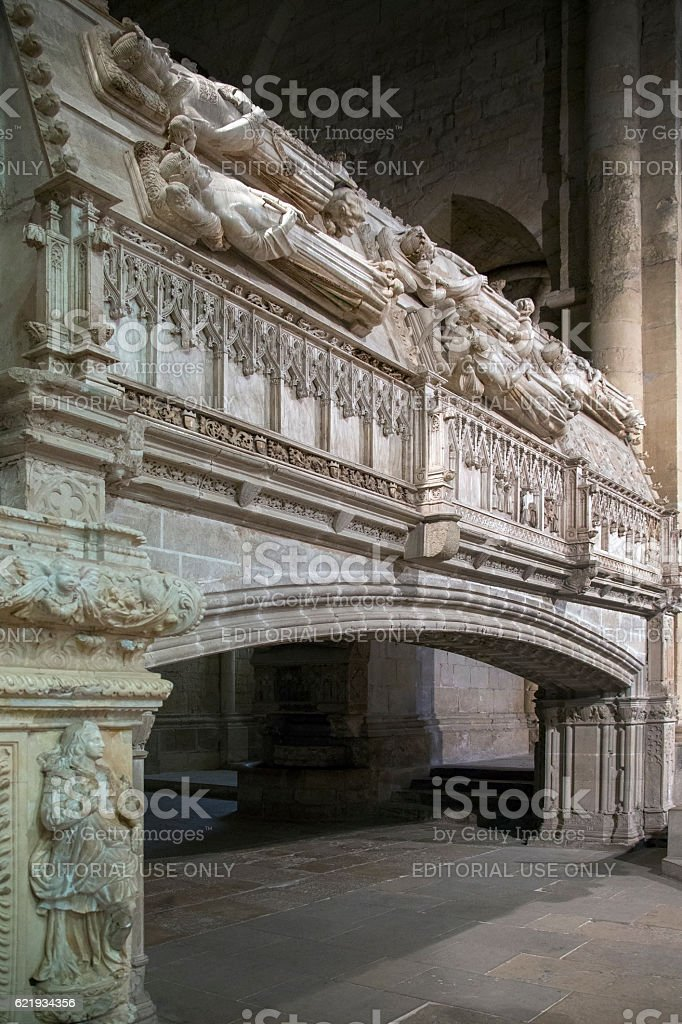 Poblet Monastery - Catalonia - Spain stock photo