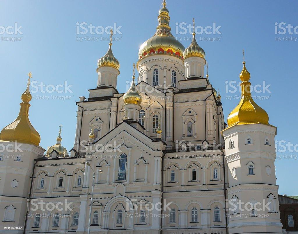 Pochaiv orthodox church, front view stock photo