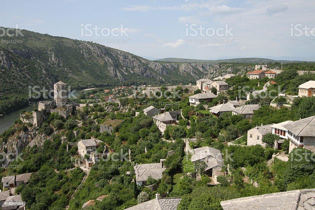 Pocitelj old town, Bosnia and Herzegovina stock photo