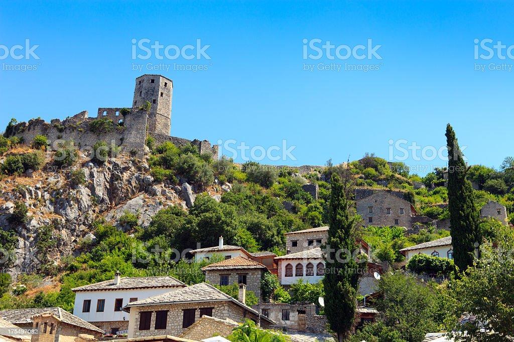 Pocitelj Village, Bosnia and Herzegovina stock photo