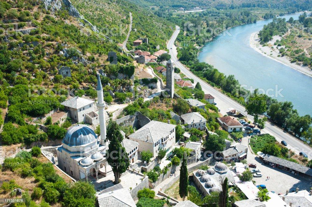 Pocitelj Village - Bosnia stock photo