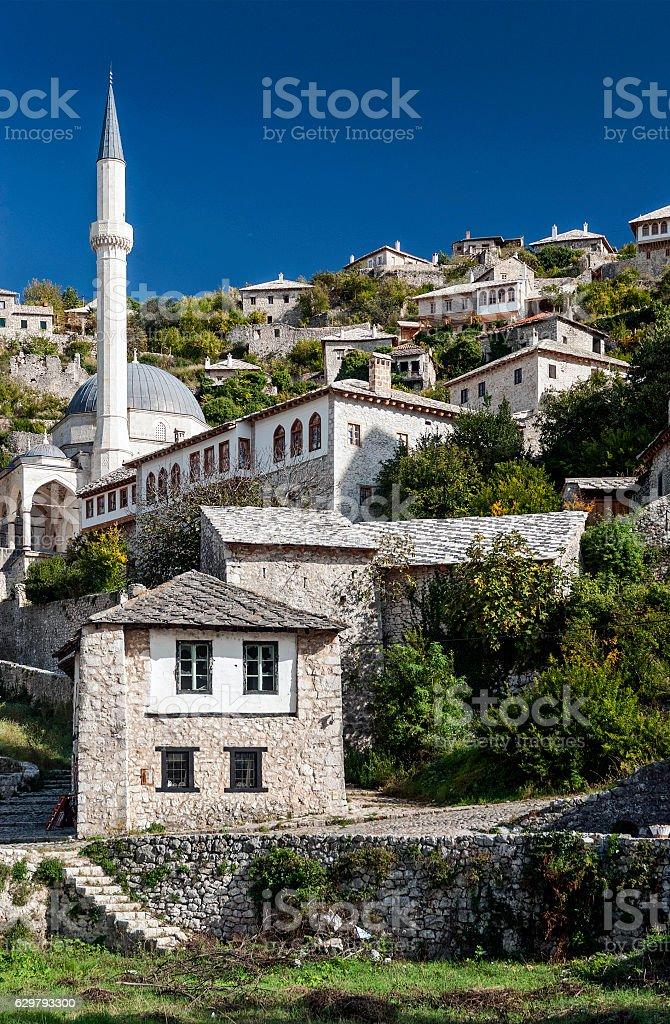 pocitelj village traditional old architecture buildings in Bosnia Herzegovina stock photo