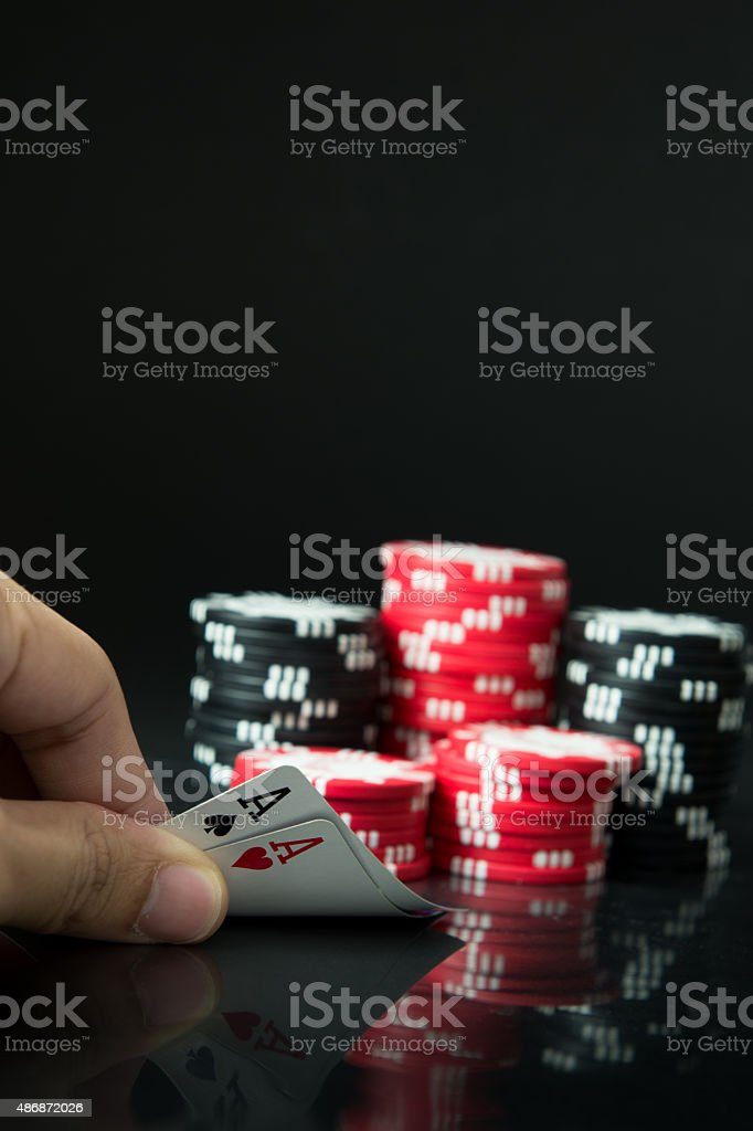 Pocker aces stock photo