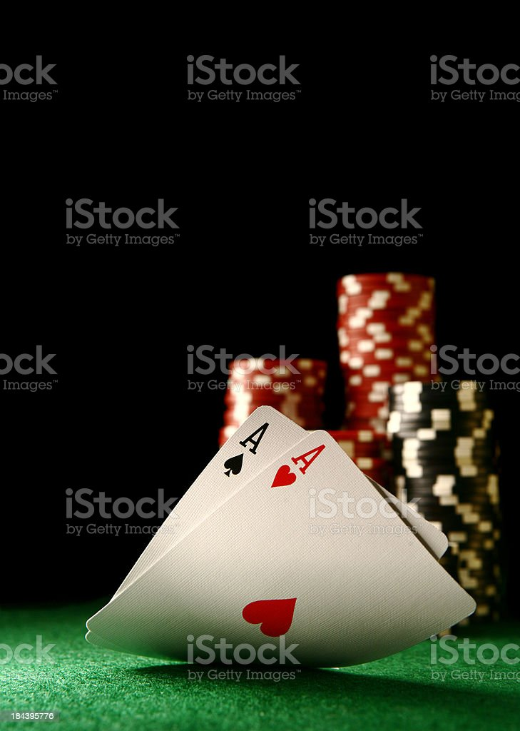 Pocket Aces stock photo