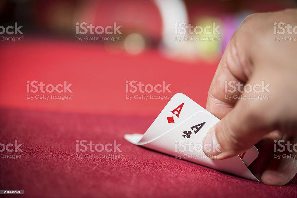 Pocket Aces stock photo