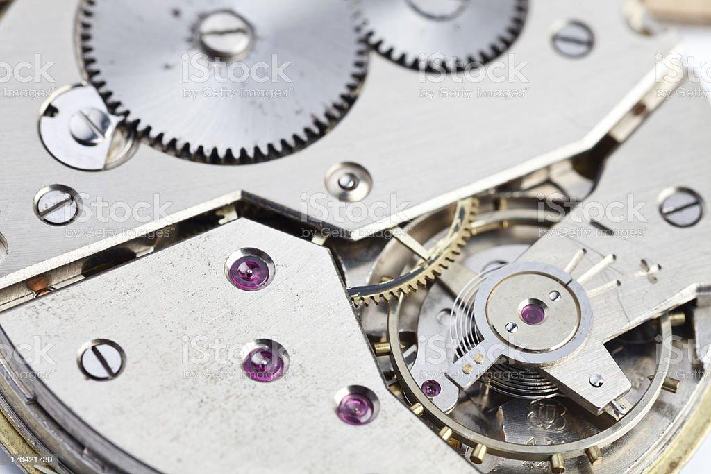 Pocket Antique Watch Mechanism stock photo