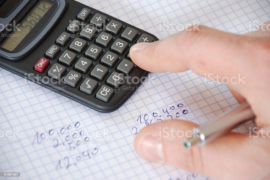 Pocket Calculator3 royalty-free stock photo