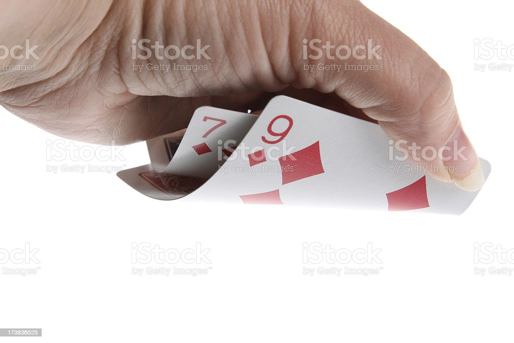 Pocket cards, Texas hold'em royalty-free stock photo