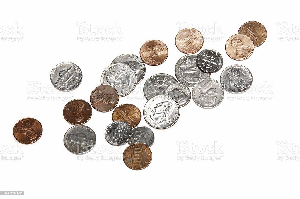 Pocket Change royalty-free stock photo