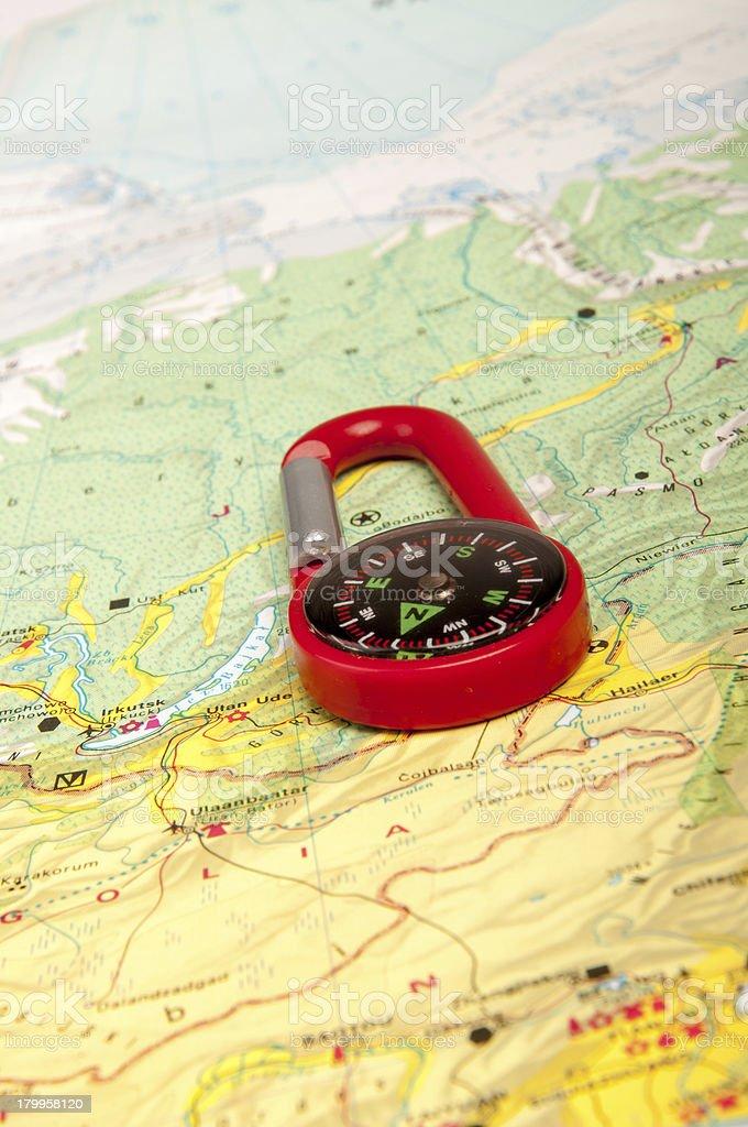 Pocket compass royalty-free stock photo