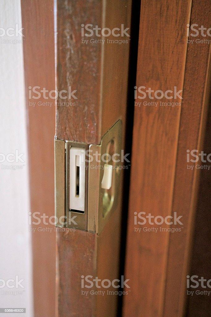 pocket door stock photo