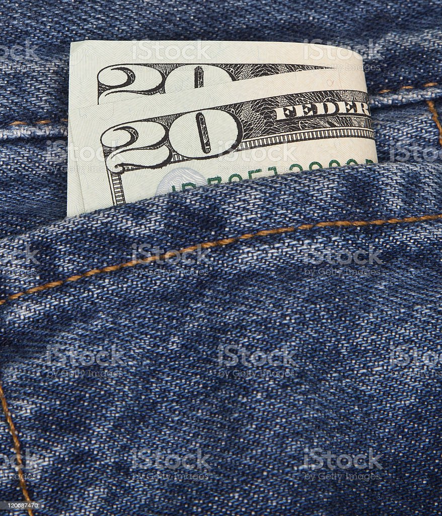 Pocket Full of Dollars royalty-free stock photo