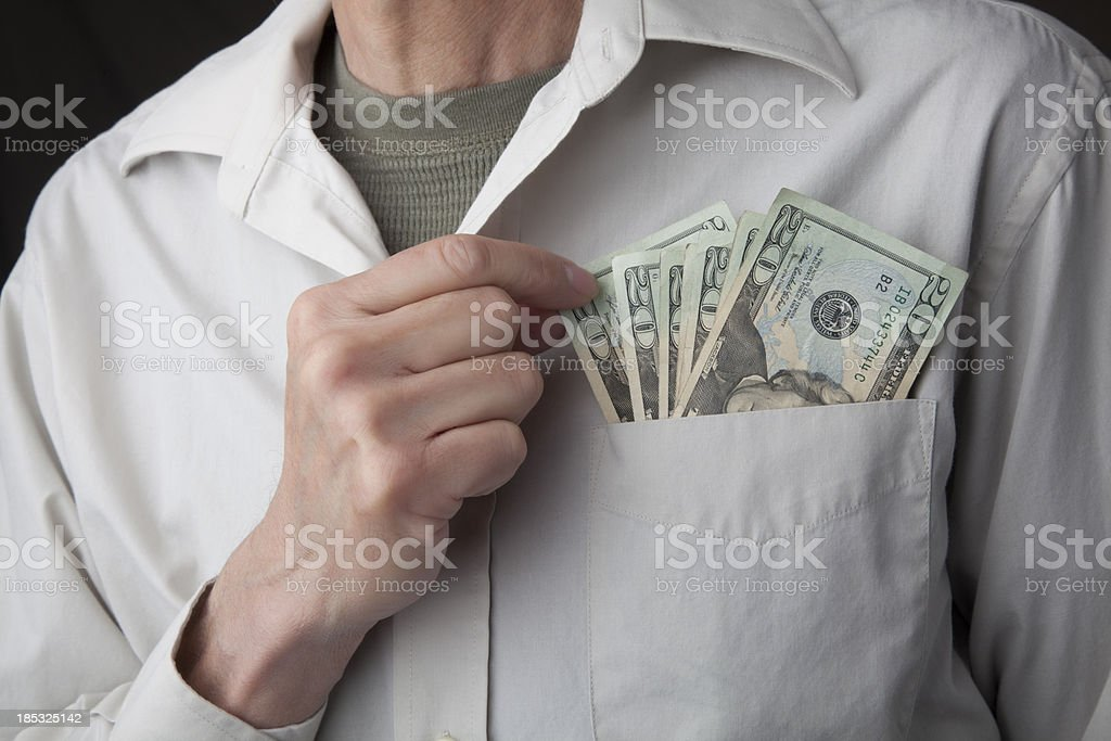 Pocket Full of Dollars royalty-free stock photo