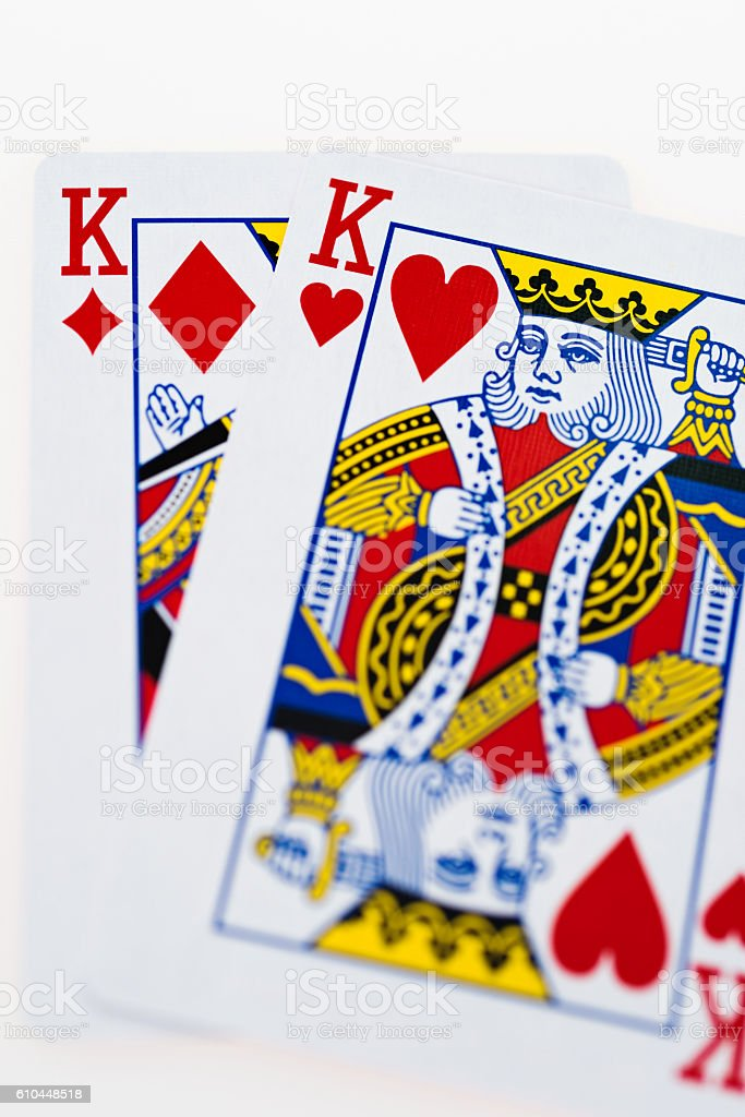 Pocket Kings closeup stock photo