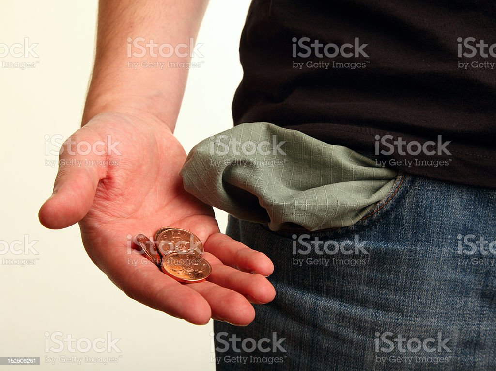 Pocket Money Left stock photo